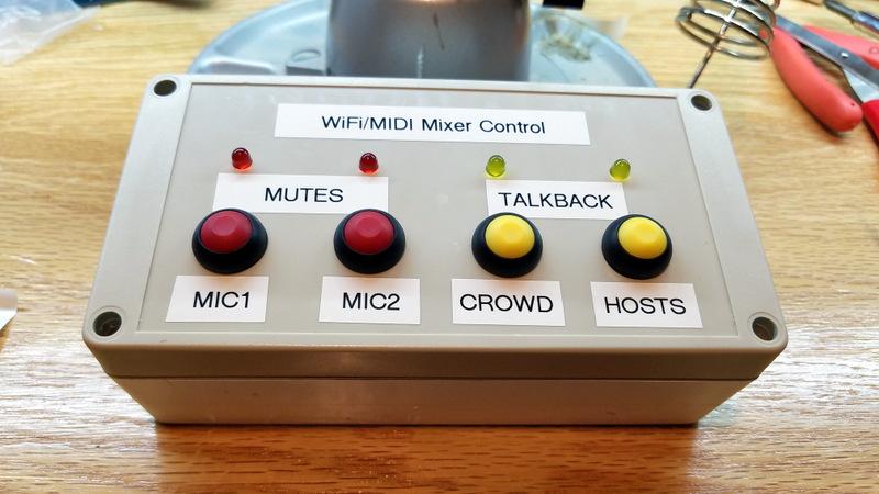 DIY WiFi/MIDI Remote control box for X-AIR: WORKIN